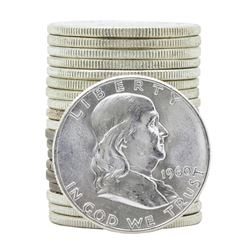 Roll of (20) 1960 Brilliant Uncirculated Franklin Half Dollar Coins