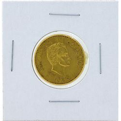 1926 Republic of Columbia 5 Pesos Gold Coin