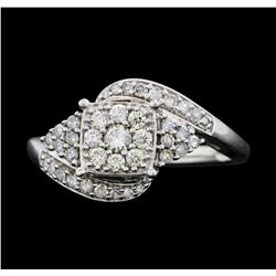 10KT White Gold Ladies 0.50 ctw Diamond Ring