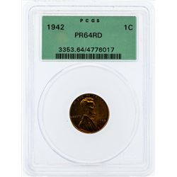 1942 Lincoln Proof Cent PGCS PR64RD