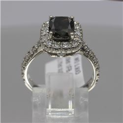 14KT White Gold 2.76 ctw Cushion Cut Fancy Brown Diamond Ring