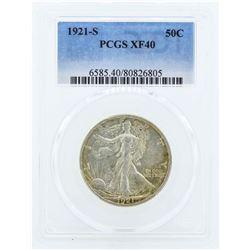 1921-S Walking Liberty Half Dollar Coin PCGS XF40