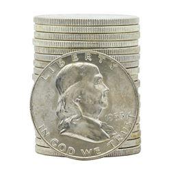 Roll of (20) 1953-D Brilliant Uncirculated Franklin Half Dollar Coins