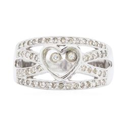 14KT White Gold 0.50 ctw Floating Diamond Ring