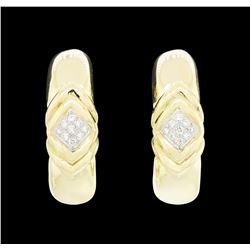 14-18KT Yellow and White Gold 0.50 ctw Diamond Clip Earrings