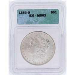 1883-O $1 Morgan Silver Dollar Coin ICG MS63