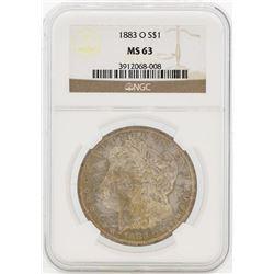 1883-O $1 Morgan Silver Dollar Coin NGC MS63 Great Toning