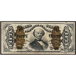March 3, 1863 Fifty Cents 3rd Issue Spinner Fractional Note