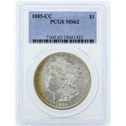 1885-CC $1 Morgan Silver Dollar Coin PCGS MS62