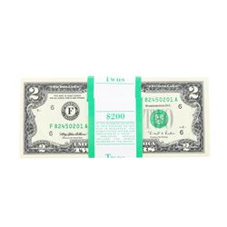 Pack of (100) 1995 $2 Federal Reserve Notes