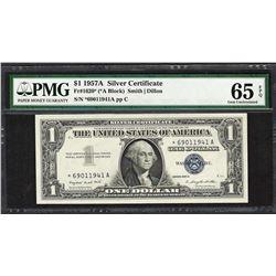 1957A $1 Silver Certificate STAR Note Fr.1620* PMG Gem Uncirculated 65EPQ