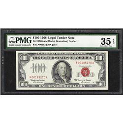 1966 $100 Legal Tender Note Fr.1550 PMG Very Fine 35EPQ