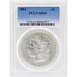 1884 $1 Morgan Silver Dollar Coin PCGS MS63