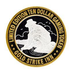 .999 Silver Gold Strike Inn Boulder City, Nevada $10 Limited Edition Casino Gami