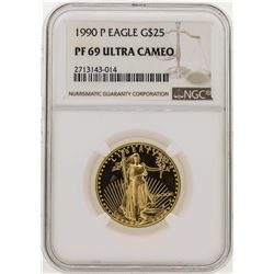 1990-P $25 American Gold Eagle Coin NGC PF69 Ultra Cameo