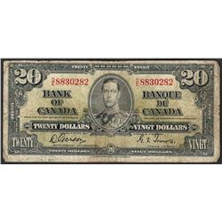 1937 $20 Bank of Canada Note