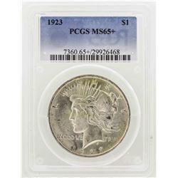 1923 $1 Peace Silver Dollar PCGS MS65+