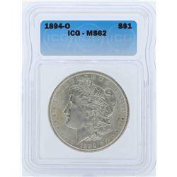 1894-O $1 Morgan Silver Dollar Coin ICG MS62