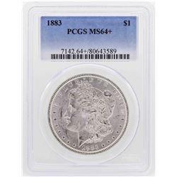 1883 $1 Morgan Silver Dollar Coin PCGS MS64+