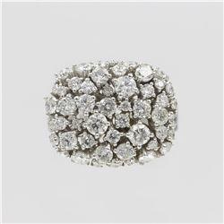 14KT White Gold 2.33 ctw Natural Round Cut Diamond Anniversary Ring
