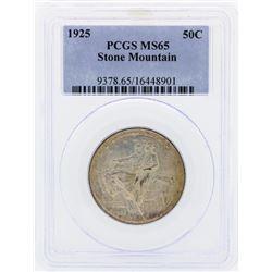 1925 Stone Mountain Commemorative Half Dollar Coin PCGS MS65