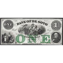 1863 $1 The Bank of Soto Obsolete Note
