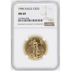 1996 $25 American Gold Eagle Coin NGC MS69
