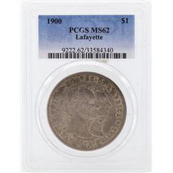 1900 $1 Lafayette Commemorative Silver Dollar Coin PCGS MS62