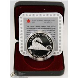 1986 CANADIAN PROOF SILVER DOLLAR IN DISPLAY