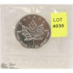 1999 CANADIAN 1-OZ FINE SILVER $5 COIN