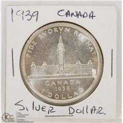 1939 CANADIAN SILVER DOLLAR.