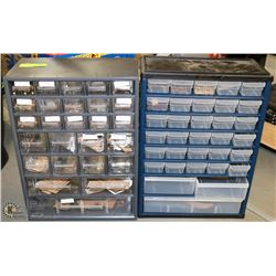 2 PARTS ORGANIZERS WITH CONTENTS