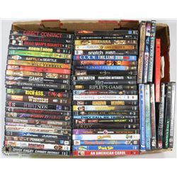 LARGE FLAT OF DVD'S