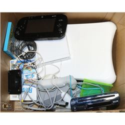 LARGE LOT OF NINTENDO WII  AND WII-U MISC WITH
