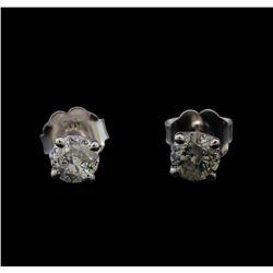 14KT White Gold 0.59 ctw Diamond Stud Earrings