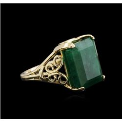 16.36 ctw Emerald Ring - 14KT Yellow Gold