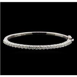 14KT White Gold 3.00 ctw Diamond Bangle Bracelet