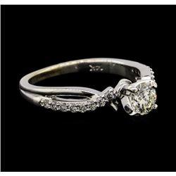 0.70 ctw Diamond Ring - 14KT White Gold