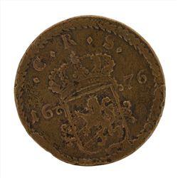 1676 Sweden Large Copper Coin