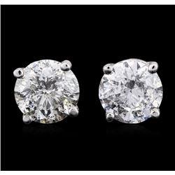 14KT White Gold 1.79 ctw Diamond Stud Earrings