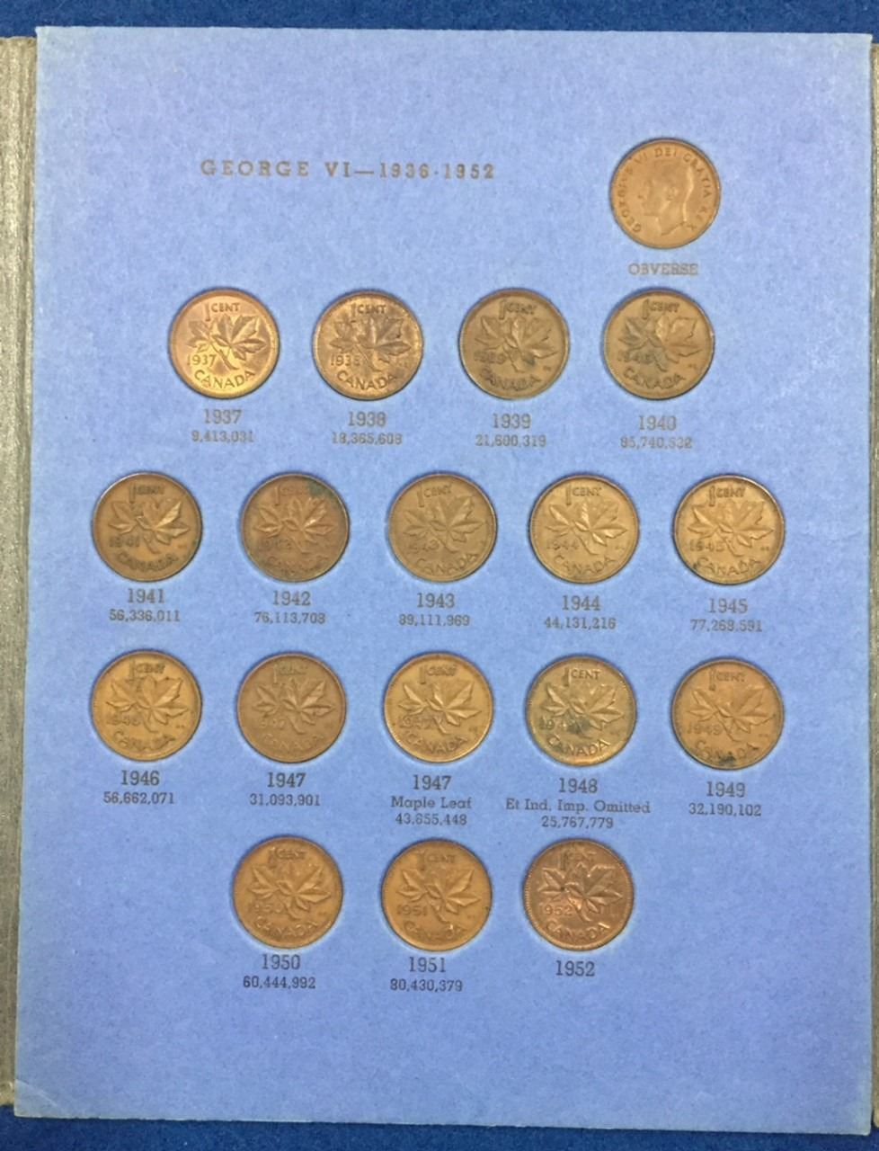 in Whitman Canada Small Cents Folder Canada Small Cent Set