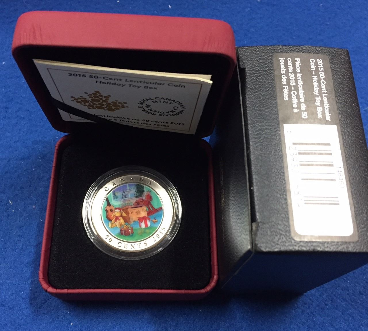 Canada 2015 50 Cent Lenticular Holiday Toy Box Coin