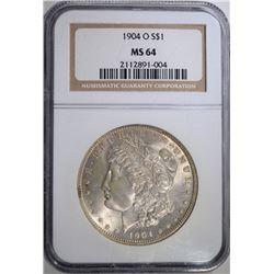 1904-O MORGAN DOLLAR, NGC MS-64