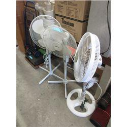 3 Oscillating Floor Fans