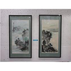 Pair of Framed Oriental Prints