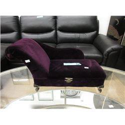 Purple Velvet Keepsake Box