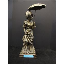 """21"""" Tall Painted Plaster Statue"""