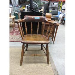 Georgian Elm Smokers Bow Windsor Chair ca1820
