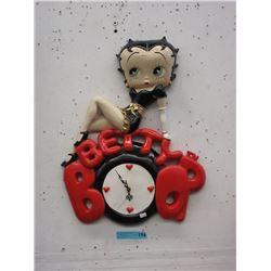 Large Betty Boop Wall Clock