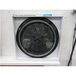 """New 23"""" Wall Clock with Glass Lens"""